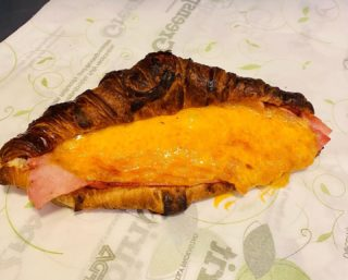 Toasted ham and cheese croissant 🥐   What a tasty breakfast treat   #breakfast #breakfastideas #croissant #hamandcheese #impressocafe